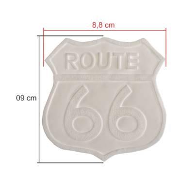 TAGS BISCUIT ROUTE 66 9CM X 9CM