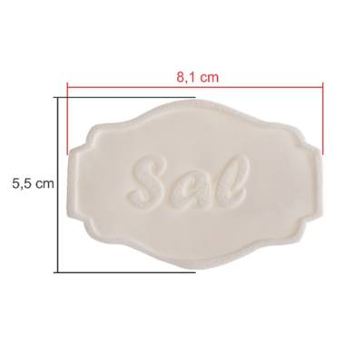 TAGS BISCUIT SAL 8,5CM X 6CM