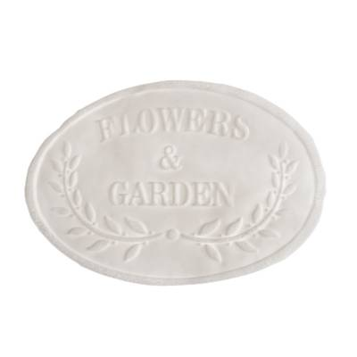TAGS BISCUIT FLOWERS & GARDEN 14CM X 9CM