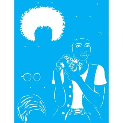 Stencil 32 X 42 Afro Mulher