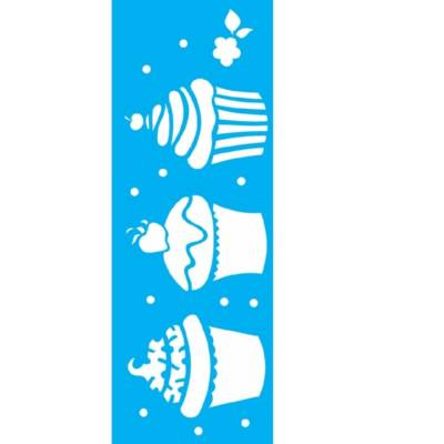 STENCIL 10 X 30 DOCES CUPCAKES