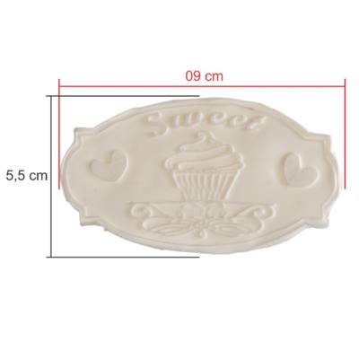 Tags Biscuit Sweet Cupcake 9 Cm X 5,5 Cm
