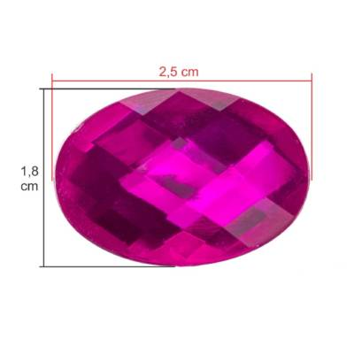 Chaton Oval 18 X 25 Pink Unidade